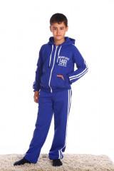 Детский костюм 2 лампаса (1006). Расцветка: синий