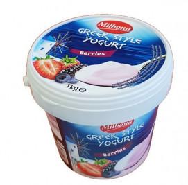 Йогурт Milbona Greek Style (10%, лесные ягоды) 1 кг