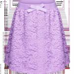 Юбка из кружева для девочки, цвет лиловый. Размер 152-170