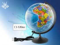 Глобус Земли д-р 320 политический с подсветкой