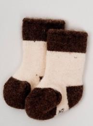 Носки детские из шерсти 100% белый, Монголия