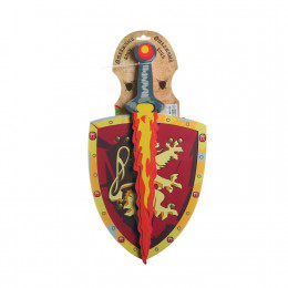 Набор оружия мягкого BONDIBON, щит и меч, ОТВАЖНЫЙ ВОИН