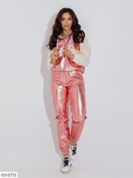 Прогулочный костюм с блестящей плащевки FD-0770