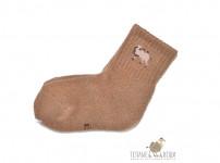 Носки детские из верблюжьей шерсти (коричневые)