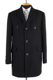 Пальто мужское утепленное (Рост 176) Кашемир Черный