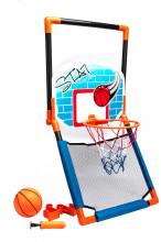 Баскетбольный щит 2 в 1 с креплением на дверь