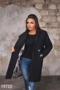 Женское пальто 19720 черный