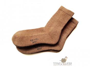 Носки из верблюжьей шерсти коричневые