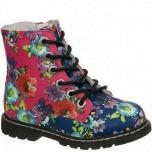 51-555B фукс/разноцвет Ботинки деми для девочек (22-27)