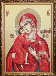 Богородица Фёдоровская - икона (Гобеленовая картина)
