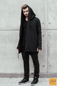 Мантия утепленная черная со шнурками 25400