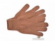 Перчатки из верблюжьей шерсти темные
