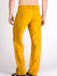 Мужские льняные брюки / ЦВЕТ:  горчичный