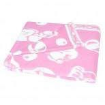 Одеяло детское байковое жаккардовое 140/100 см. цв. розовый