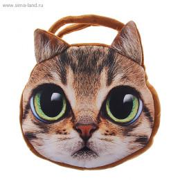 """Мягкая сумочка """"Кошка"""" с большими глазами"""