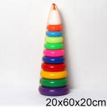 """Игрушка пластмассовая пирамида """"Гигант"""", 60 см, СОВТЕХСТРОМ"""