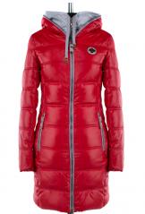 04-1667 Куртка демисезонная (Синтепух 250) Плащевка Красный
