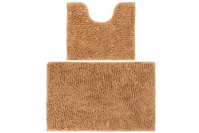 """Набор ковриков 2 шт. 50*45*2,5 см и 80*50*2,5 см """"Песочный"""""""