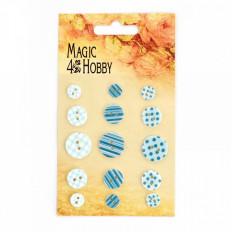 Набор пуговиц Magic Hobby для скрабукинга арт.MG BUT 103 цв.