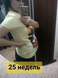 Фото животиков на 25 неделе беременности