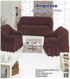 Набор 3 накидки ANGELINA (201 шоколад)