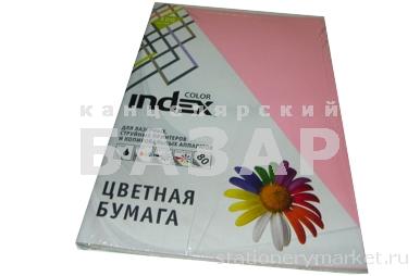Бумага цветная, Index Color, 80гр, А4, 4х25
