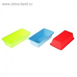 """Форма для выпечки силиконовая 11х22 см """"Прямоугольник"""", цвет"""