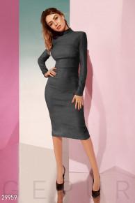 Замшевое облегающее платье