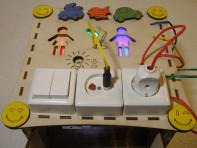 Бизиборд складной с электрикой (блоком светоиндикации)