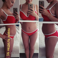 Фото животиков на 16 неделе беременности