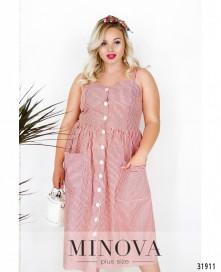 Платье №1832-1-Розовый