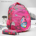 Рюкзак школьный, отдел на молнии, с футляром