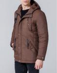 Ветровка качественная коричневая модель 1342
