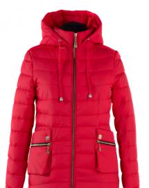 04-1015 Куртка демисезонная (синтепух 150) Плащевка Красный