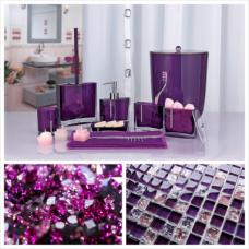 Roma (фиолетовый) Контейнер для ватных палочек, полимер