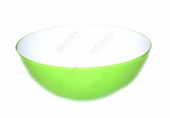 Пиала 20 см круглая зеленая (salad bowl small)