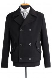 Пальто мужское демисезонное (Рост 176) Кашемир Черны