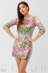 Платье с цветными пайетками