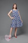 Платье П 703/1 (сирень на синем)