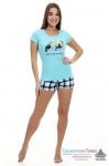 Пижама женская Птичка (шорты и футболка)