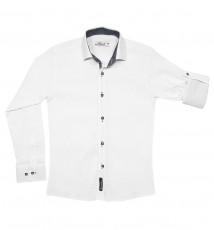 Рубашка трикотажная для мальчика, Dast cardin, белая