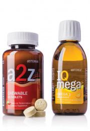"""Комплект:жевательные витамины """"от А до Я"""" и БАД """"Айкью Мега"""""""