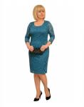 """Платье """"Наоми"""" морская волна с 56 размера +100р"""