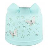 Шапка детская бабочки со стразами без подкладки