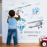 Интерьерная многоразовая наклейка «Авиация»