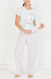 MINT Happy Cat Pijama Takımı