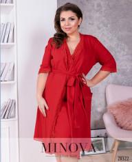 Пижамный Комплект 2-Ка №847-Красный