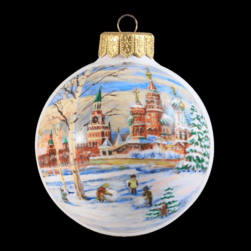 разработал стиль новогодний шарик у кремля фото выполнении