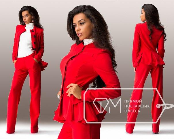 Красный брючный костюм женский купить куртка max mara weekend mogador
