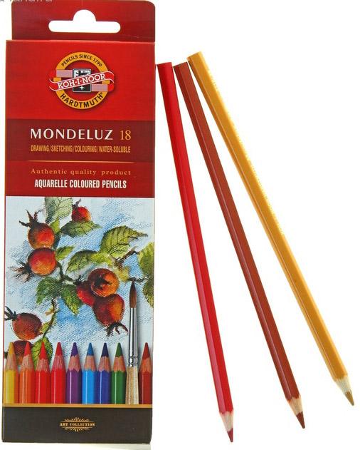 Карандаши акварельные 18 цветов MONDELUZ